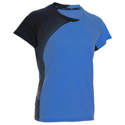 T-Shirt de badminton Femme 530 - Bleu Marine