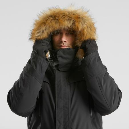 Men's Snow Hiking Jacket SH500 Ultra-Warm - Black.