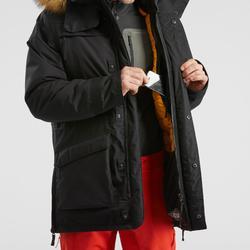 Winterjacke Winterwandern SH500 Ultra-Warm Herren schwarz