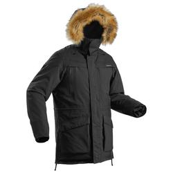 Men's snow hiking parka SH500 ultra-warm - black.
