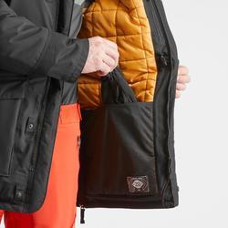 Veste de randonnée neige homme SH500 ultra-warm noire.