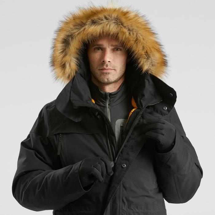 Winterjacke Parka Winterwandern SH500 Wasserdicht Ultra-warm Herren schwarz