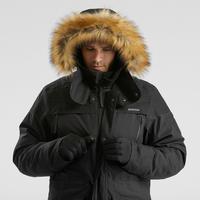 Chamarra parka cálida impermeable senderismo nieve - SH500 U-WARM - hombre.