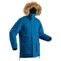 Men's ultra-warm snow hiking parka SH500 - blue.