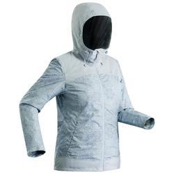 Women's Warm Waterproof Hiking Jacket - SH100 X-WARM