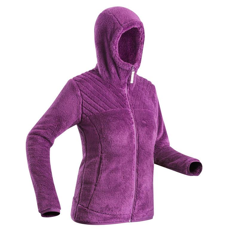 SH100 Women's ultra-warm snow hiking fleece jacket