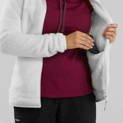 Fleece vest voor sneeuwwandelen dames SH100 Ultra-warm wit
