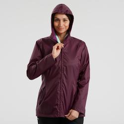 Veste chaude imperméable de randonnée neige femme SH100 chaude Violet