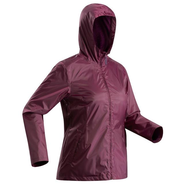 Women's Rain Jacket SH100 (Warm) - Purple