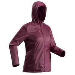 Chaqueta cálida impermeable de senderismo nieve mujer SH100 cálida violeta
