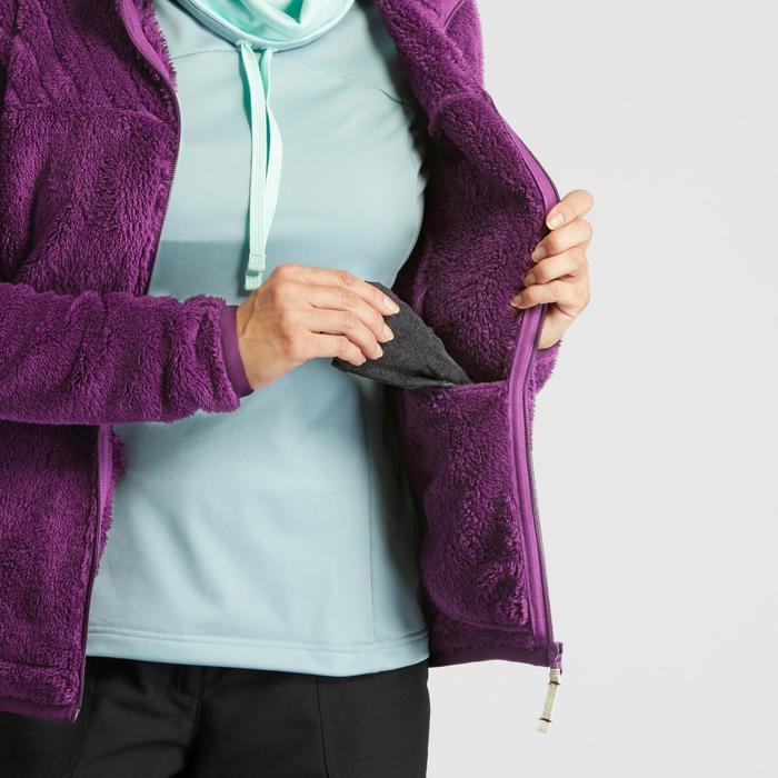Fleece vest voor sneeuwwandelen dames SH100 Ultra-warm paars