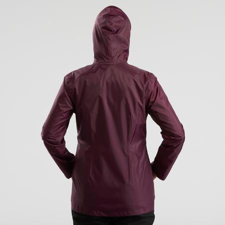 Women's Snow Hiking Jacket SH100 Warm - Purple