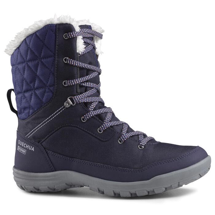 Botas de senderismo nieve mujer SH100 warm high azul