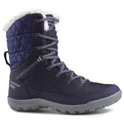 Warme waterdichte damesschoenen voor sneeuwwandelen SH100 Warm hoog