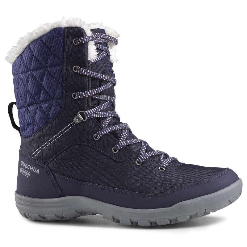 Női téli túracipő Túrázás - Női hótaposó SH100 WARM HIGH QUECHUA - Cipő, bakancs, szandál