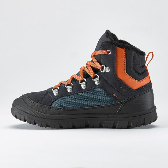 Warme wandelschoenen voor de sneeuw kinderen SH500 Warm veters mid blauw