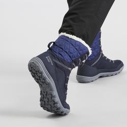 Chaussures de randonnée neige femme SH100 warm high bleu