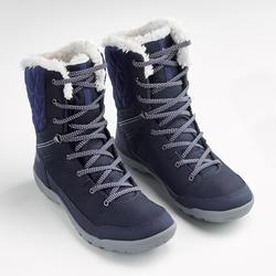 Botte de randonnée neige femme SH100 chaude haute bleu