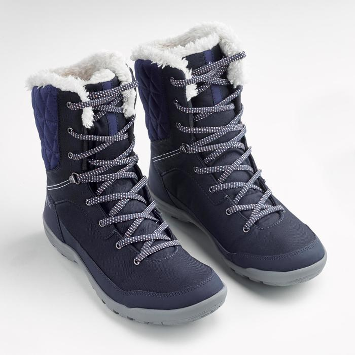 Snowboots dames SH100 Warm high blauw