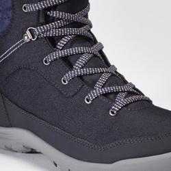 Chaussures chaudes imperméables de randonnée neige - SH100 WARM - hautes Femme