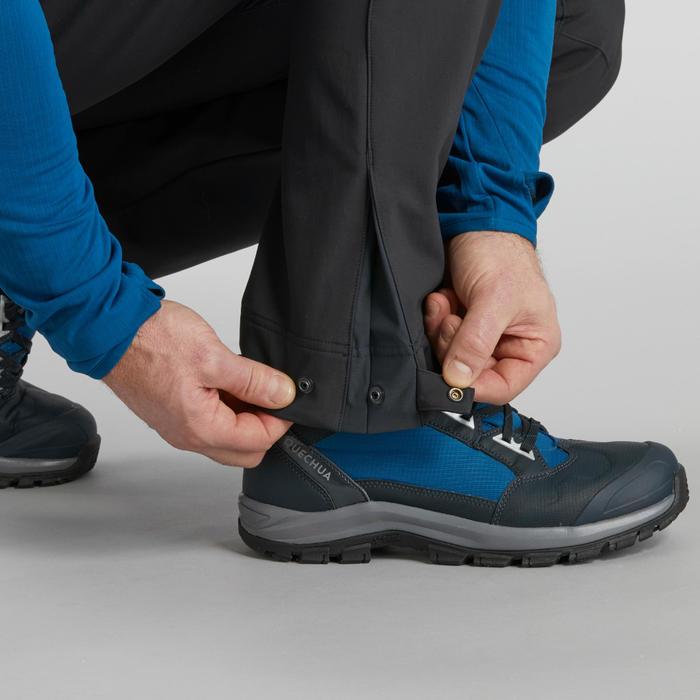 男款保暖健行長褲SH500-深灰色