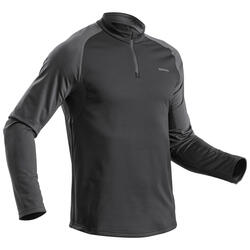 Men's Long-sleeved Warm Hiking T-shirt - SH100 WARM.