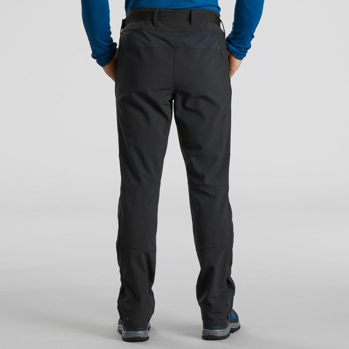 Men's warm hiking trousers SH500 x-warm - dark grey