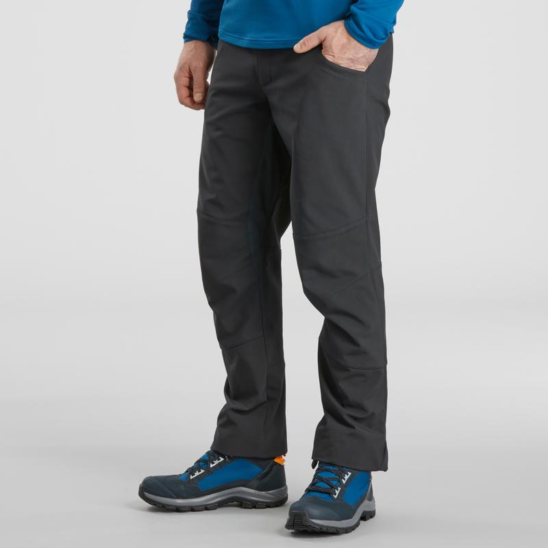 Pantalón de hiking nieve hombre SH500 x-warm gris oscuro.