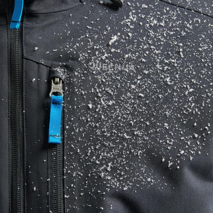 Winterjacke Winterwandern SH100 Extra-Warm Herren blau/grau