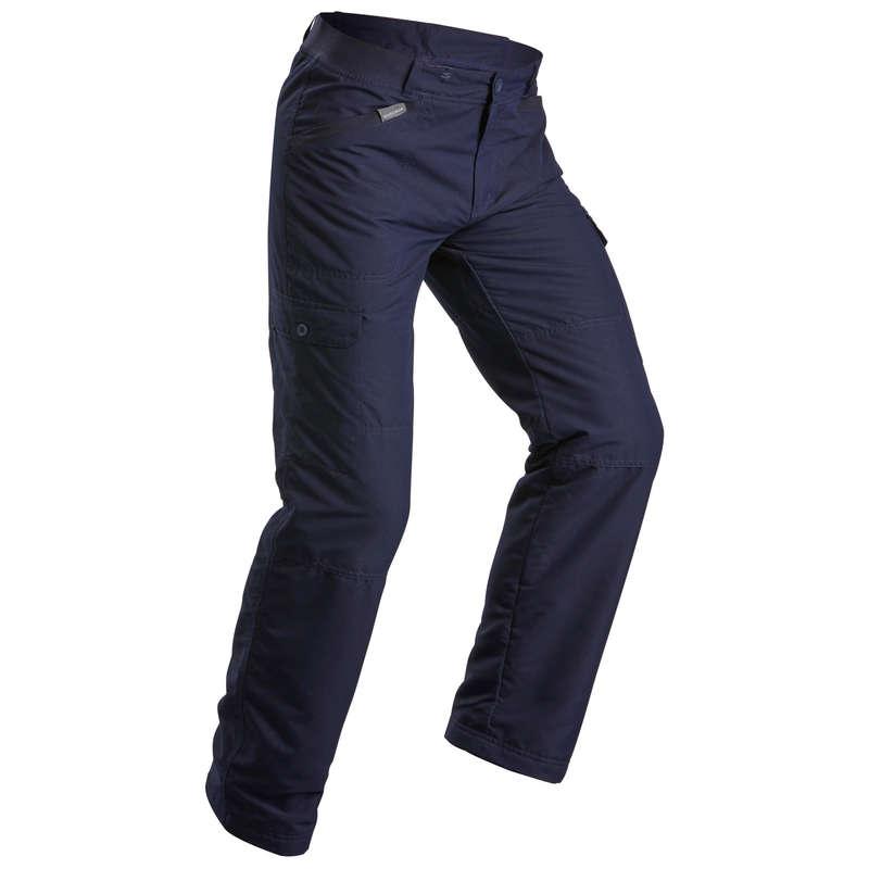 MEN SNOW HIKING WARM PANTS & FLEECES Hiking - M trousers SH100 U-WARM - Blue QUECHUA - Hiking Clothes