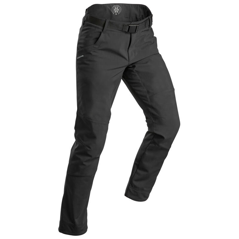 MEN'S WARM, WATER-REPELLENT SNOW HIKING TROUSERS SH100 X-WARM
