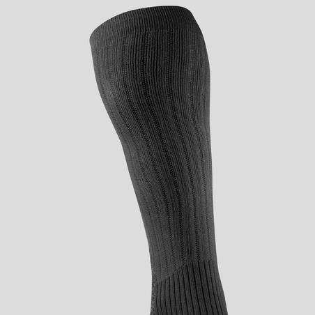 Calcetines de senderismo nieve adulto SH100 warm high negro
