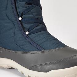 Women's Waterproof Warm Snow Boots - SH500 X-WARM LACETS - High