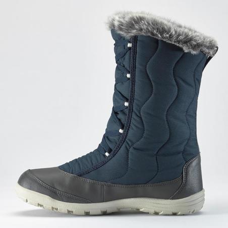 Women's Warm Waterproof Snow Lace-Up Boots - SH500 X-WARM