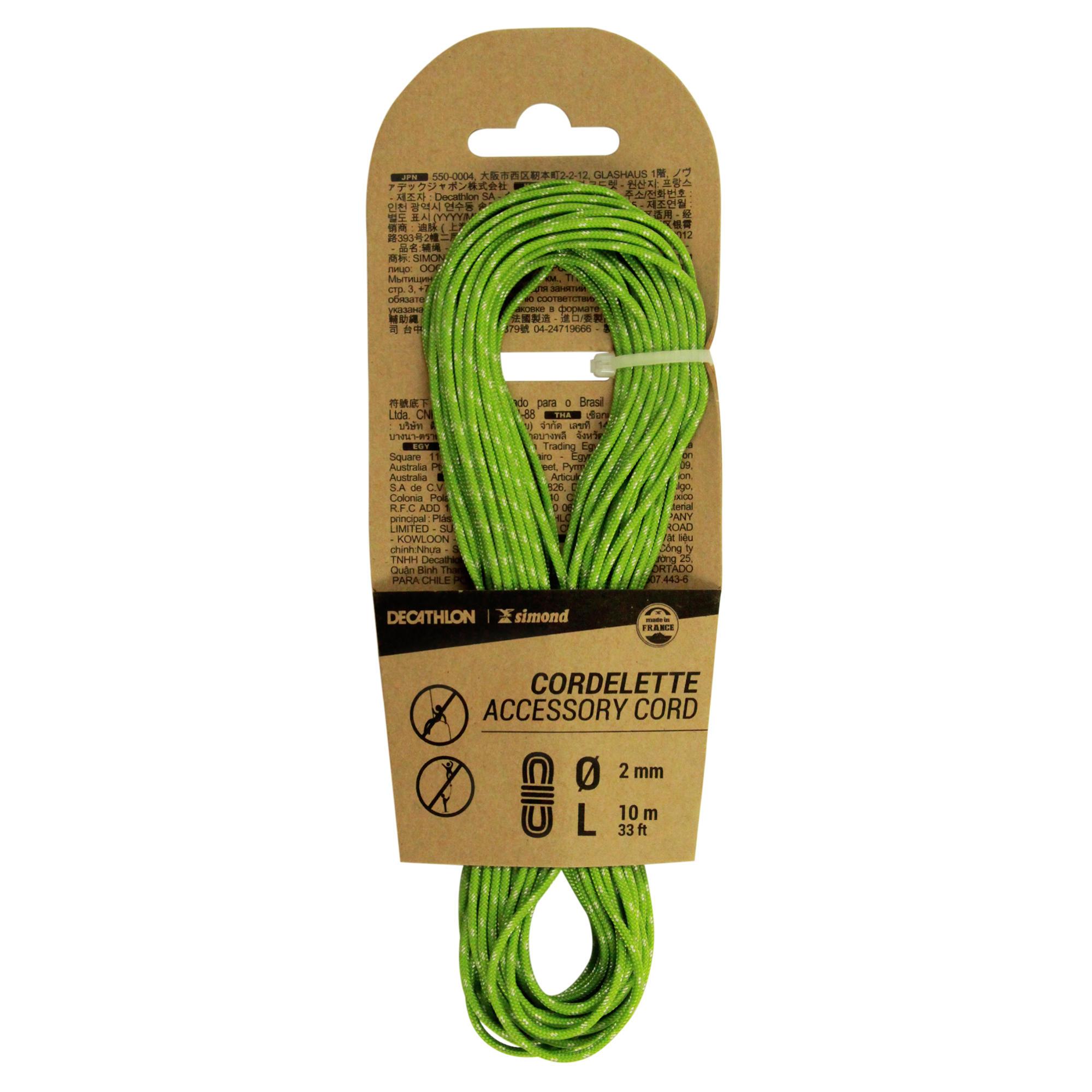 Cordelină 2 mm x 10 m Verde