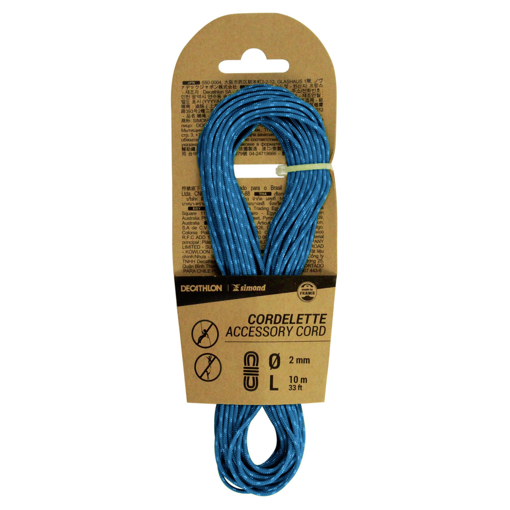 Climbing Cord 2 mm x 10 m Blue