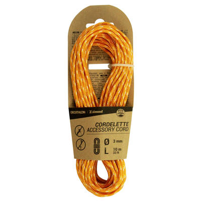 Cordelette d'escalade et d'alpinisme 3 mm x 10 m - Orange