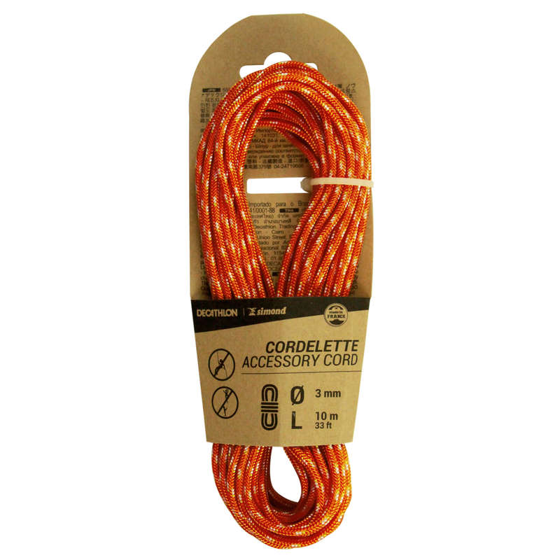 ACCESS CORDS & STATIC ROPES Climbing - CORDELETTE 3 MM x 10 M Red SIMOND - Climbing
