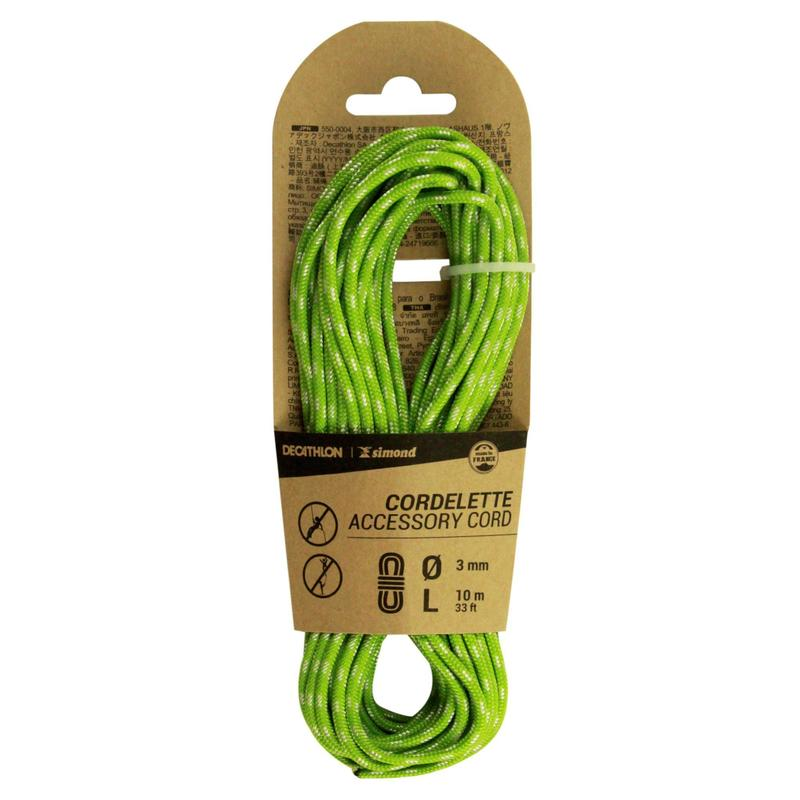 Climbing and Mountaineering Cordelette 3 mm x 10 m - Green