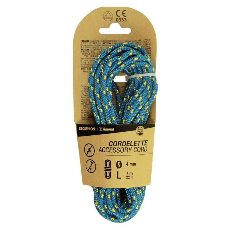 CORDELETTES Klättring - Repsnöre 4 mm x 7 m blå SIMOND - Säkringsutrustning, Rep, Sele