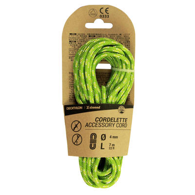 Climbing and Mountaineering Cordelette 4 mm x 7 m - Green
