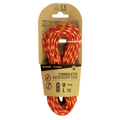 Climbing and Mountaineering Cordelette 5 mm x 6 m - Red