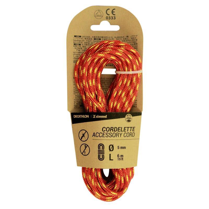 Cordino 5mm x 6m rosso