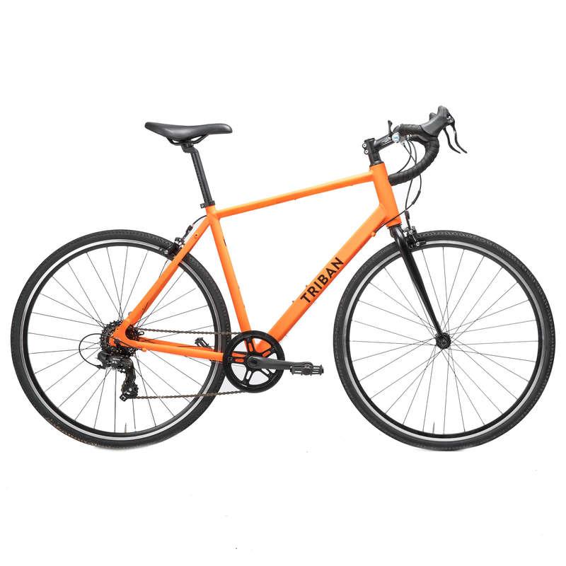 LANDSVÄGSCYKLAR CYKELTURISM Triathlon - Landsvägscykel RC100 Orange TRIBAN - Triathlonutrustning