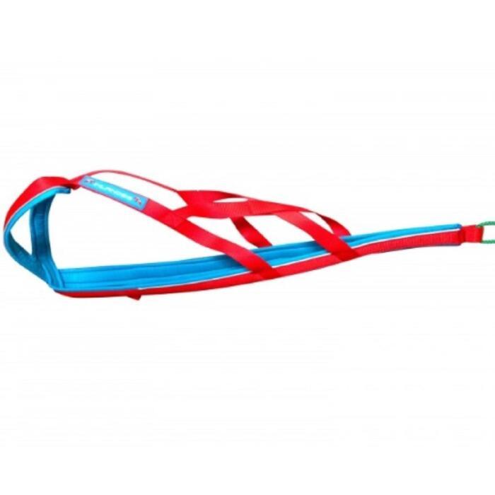 Tuigje voor canicross/bikejöring Polar Quest rood/blauw