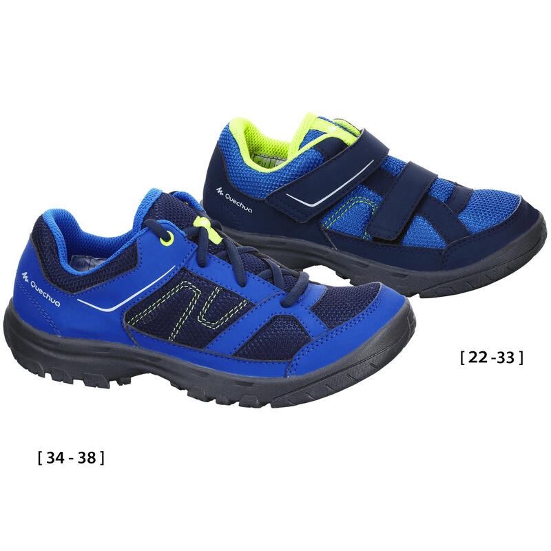 Kids Mountain Hiking Shoes MH100 JR - Blue