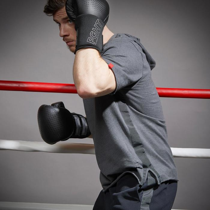 T-shirt boksen 100 met capuchon grijs