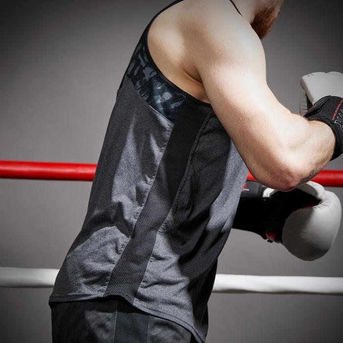 Mouwloos boksshirt 500 heren grijs