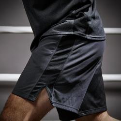 Box-Shorts 500 Herren schwarz