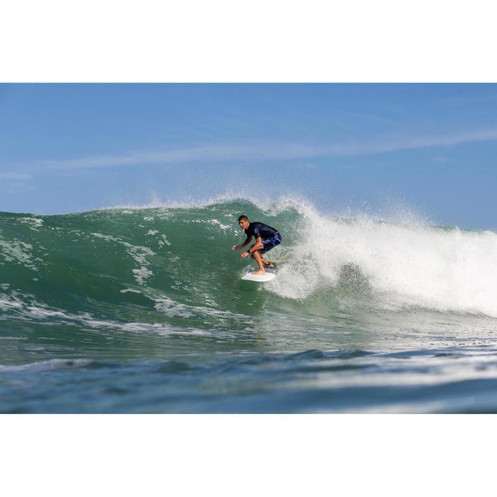 """Bañador Largo Surf Olaian 900 Psycho Neo Hombre Azul Negro 20"""""""